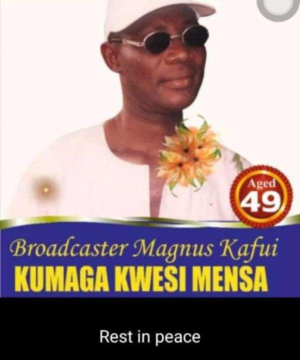 Volta GJA Mourns GBC's Kafui Kumaga