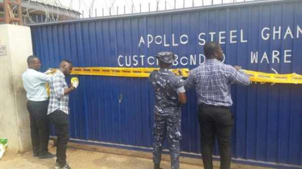 GRA Locks-up Apollo Steel Company Over Debt