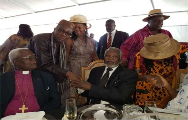 Posing with the Founder, H.E. Sam Nujoma on his 87th birthday
