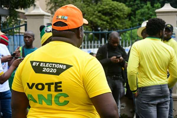 ANC campaigners at voting station in November 2020. - Source: Photo by Darren Stewart/Gallo Images via Getty Images
