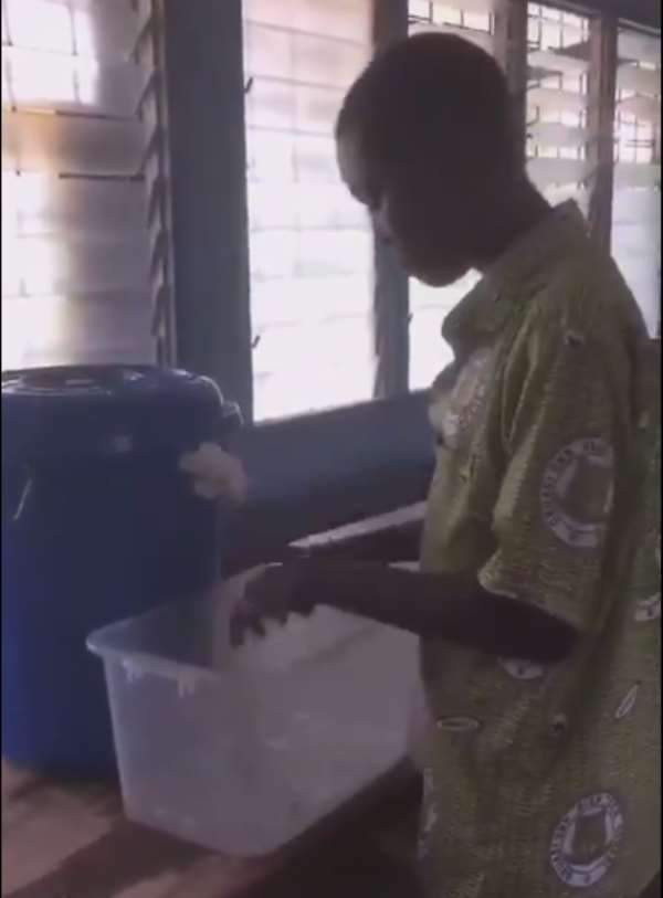 Obuasi Technical School Invents Untouchable Washing Bowl To Fight Covid-19