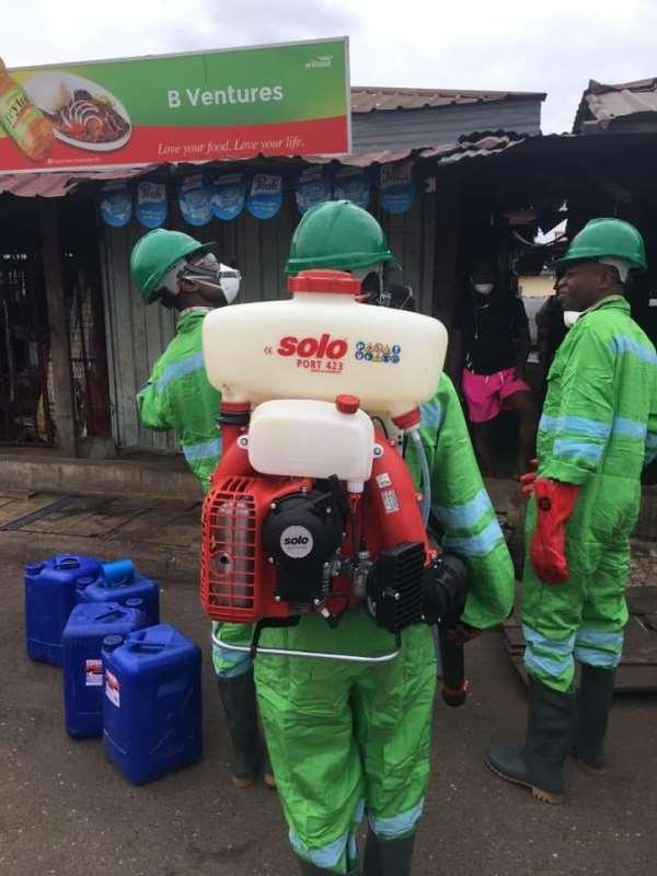 COVID-19: Ayawaso North Assembly Disinfects Markets, Streets At Mamobi