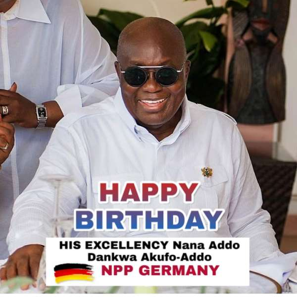 NPP Germany extends best wishes to President Akufo-Addo on his 77th milestone