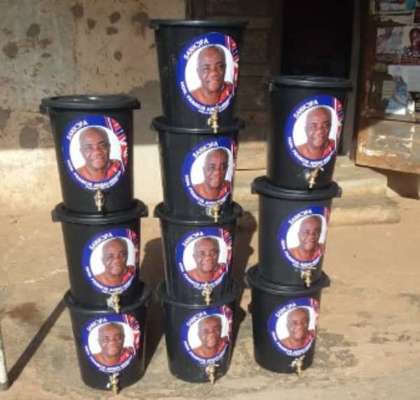 Covid-19: Hon Francis Addai-Nimo Donates Hand-washing Items To Communities