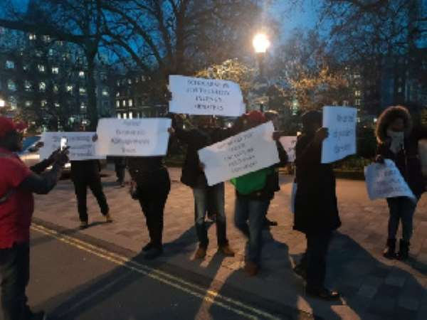 [Video] Akufo-Addo Hit With Protest In London