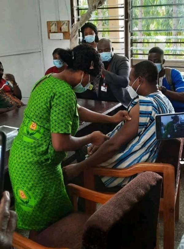 Obuasi MCE encourages residents to take COVID-19 Vaccine
