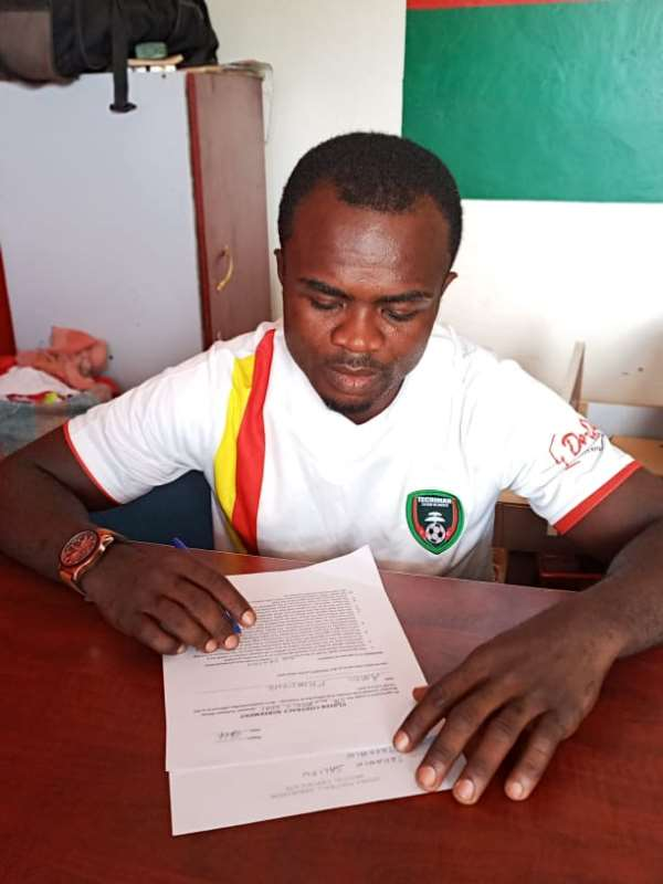 Former Kotoko captain Amos Frimpong joins Eleven Wonders on a one-year deal
