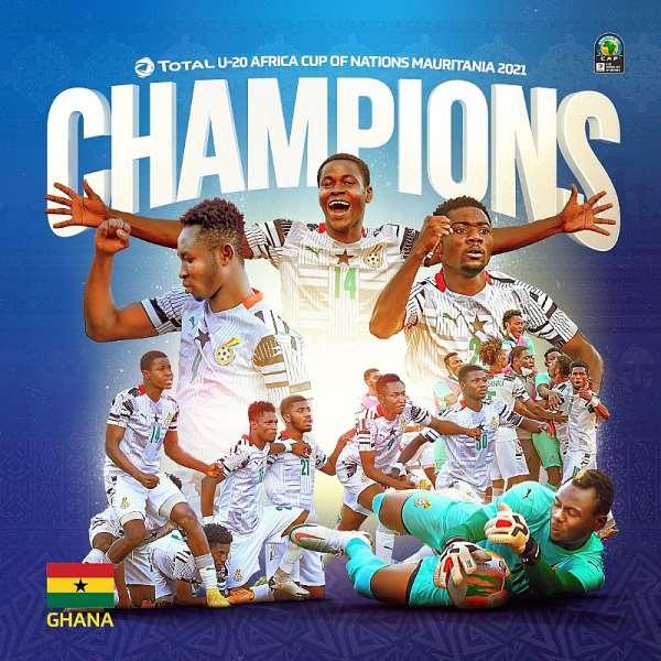 U-20 AFCON: Ghana defeats Uganda 2-0 to lift fourth title