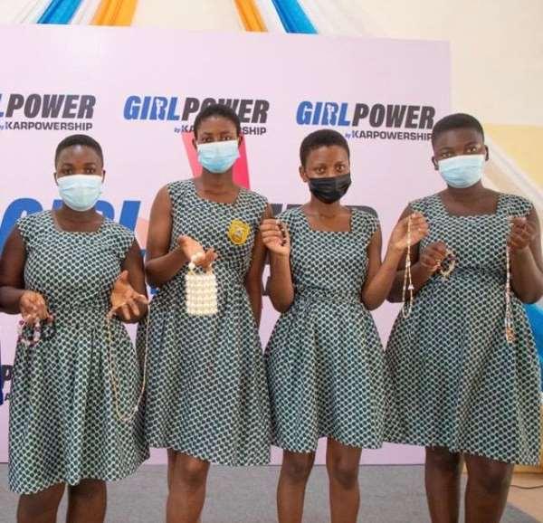Karpowership Ghana trains school girls in fashion accessories making to mark Women's Day