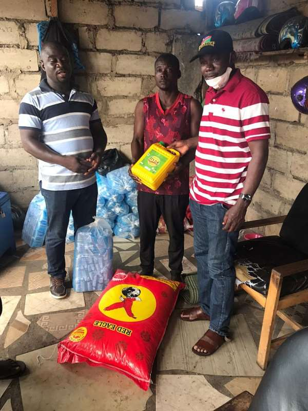 COVID-19: Hon. Ogajah Goes To The Aid Of Stranded Constituents In Accra