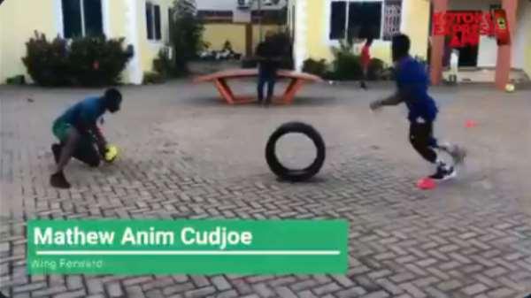 Covid-19: Kotoko Wonderkid Mathew Cudjoe Engage In Intense Training At Home [VIDEO]