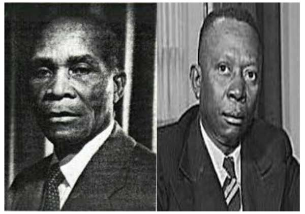 The race was between sitting President William V.S. Tubman and his challenger Didwho Welleh Twe pictured above with Tubman on the right.