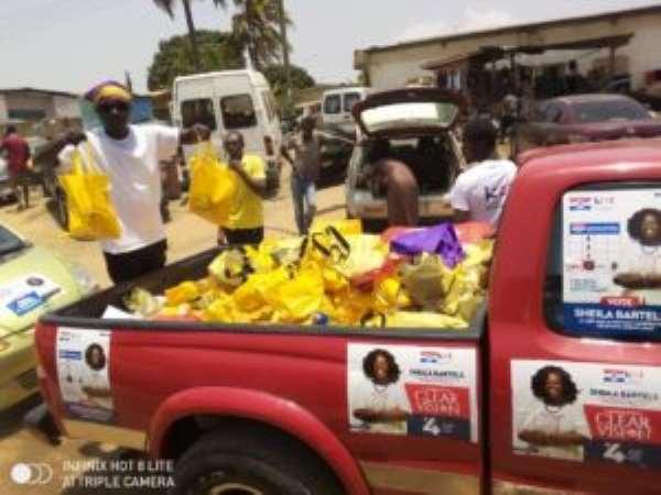 COVID 19: NPP Aspirant Sheila Bartels Donates To Ablekuma North Party Faithfuls