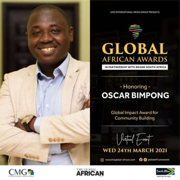 A Ghanaian in the Diaspora Changing the African Narrative is Honored