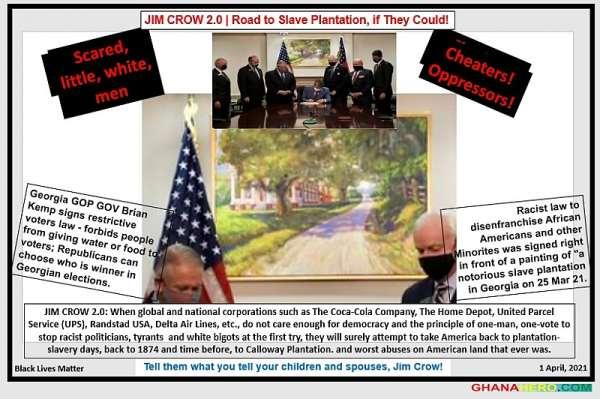 Brian Kemp Jim Crow 2.0-Scared white little men