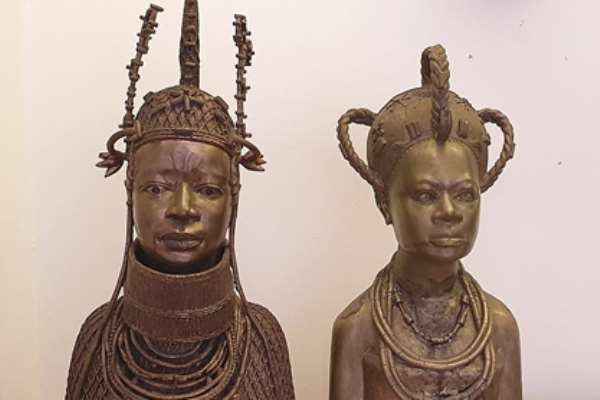 The two sculptures that the Church of England wants to return to Benin/Nigeria.