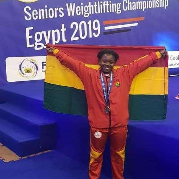 Ghana's Winny Ntumi Wins Bronze Medal At Africa Seniors Weightlifting Championship