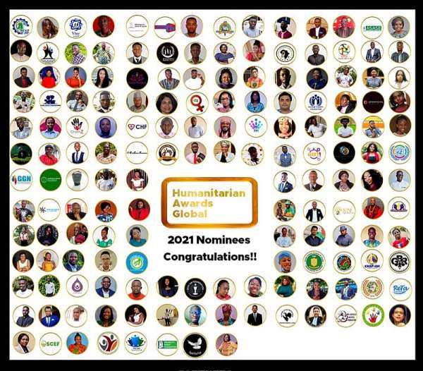 Check out nominees for the 2021 edition of Humanitarian Awards Global