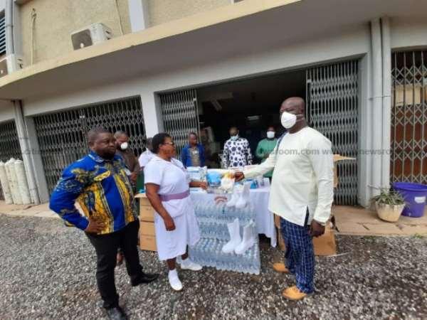 Mahama Donates PPEs To Effia-Nkwanta Regional Hospital