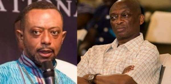 So-called Prophet Owusu Bempah and the Editor-In-Chief of the New Crusading Guide Newspaper, Kweku Baako Junior