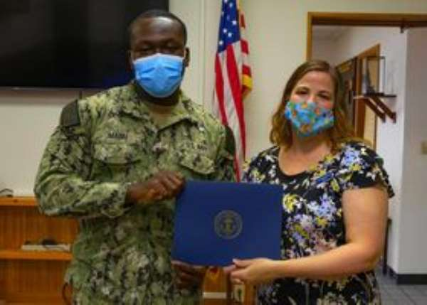 Ghanaian-American Navy Sailor awarded for dedication to duty in Japan
