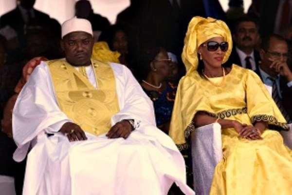Adama Barrow and his wife Fatoumata-Bah-Barrow