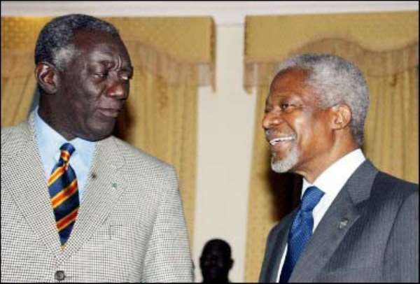 Kufuor congratulates Annan on his exoneration
