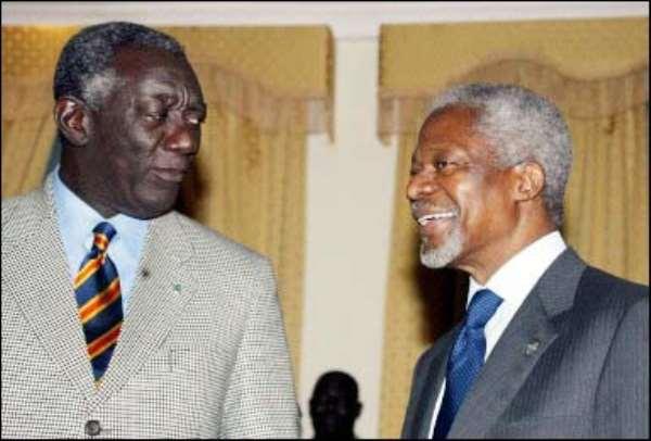Africa failing to meet dev't goals -Annan