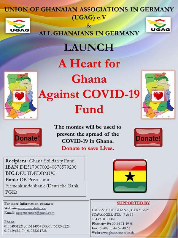 """A """"Heart For Ghana COVID-19 Fund"""" Launched In Germany"""