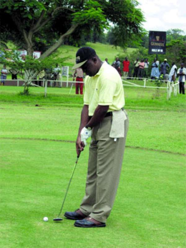 Asantehene Golf tees off in Kumasi