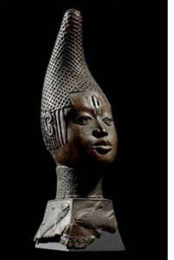 Bust of queen-mother, iyoba Idia, Benin, Nigeria, now in Ethnologisches Museum / Humboldt Forum, Berlin, Germany