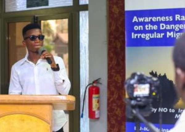 IOM Ghana, Kofi Kinaata Releases Song Against Irregular Migration
