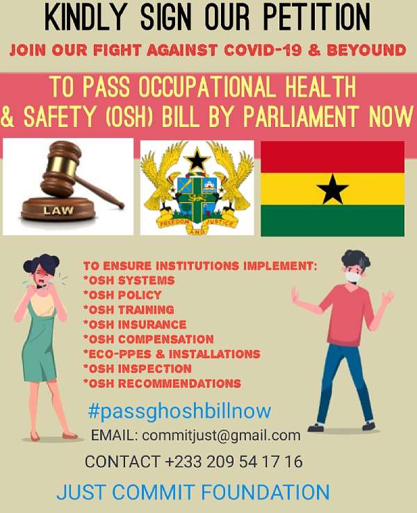 Sign The Petition For The Parliament Of Ghana To Pass Into The Law The Occupational Health And Safety (osh) Bill.