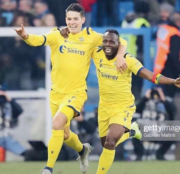 Agyemang Badu Hails Hellas Verona Manager, Teammates For Impressive Serie A Campaign