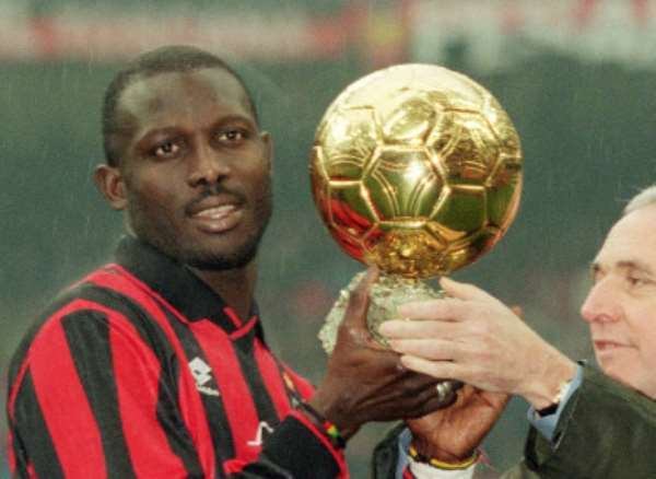 GEORGE WEAH WITH BALLON d'Or AWARD