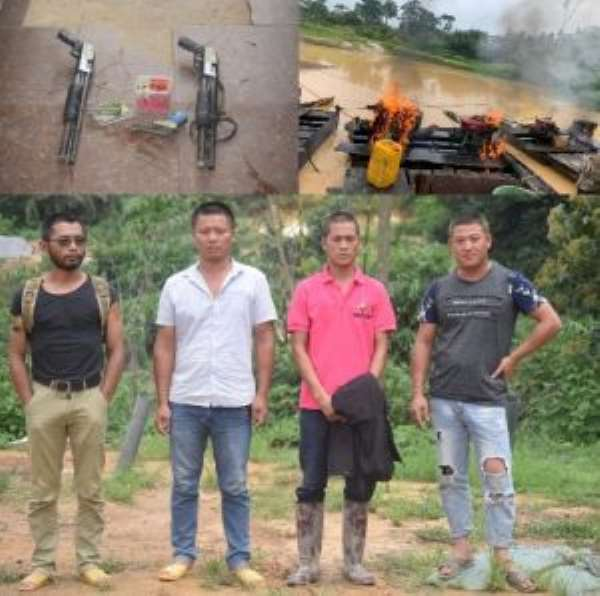 Four Suspected Chinese Illegal Miners Arrested With Pump-Action Rifles