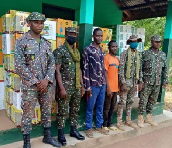 Immigration Intercepts Smuggled Agric Items At Saboba