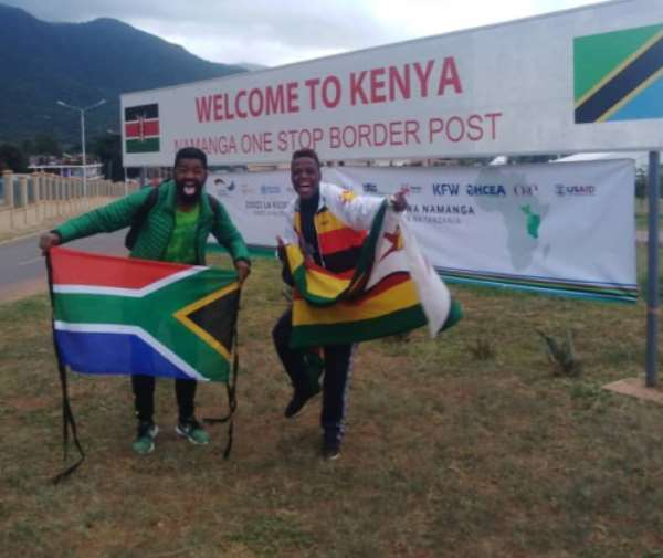 AFCON 2019: Road Trip Hits A Snag For Bafana Fan And His Zimbabwe Counterpart