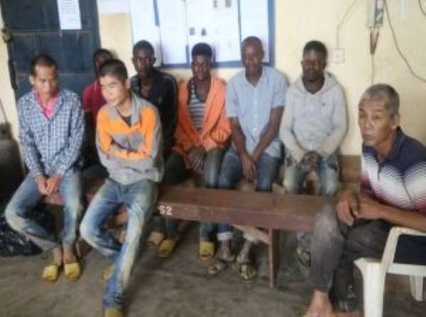 4 Chinese, 5 Ghanaian 'Galamseyers' Arrested