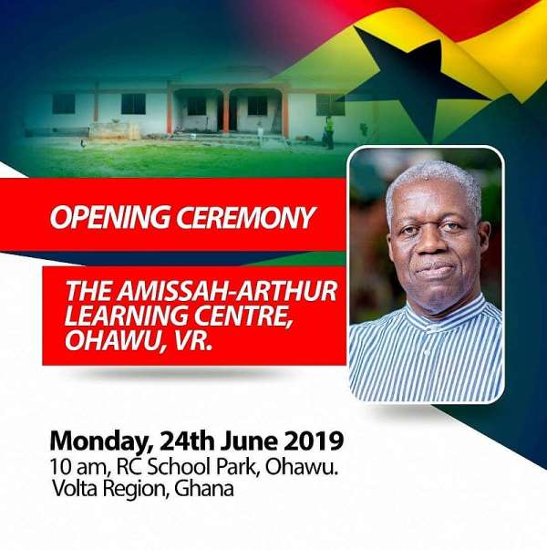 Late Amissah-Arthur Honoured With New Library And Computer Complex
