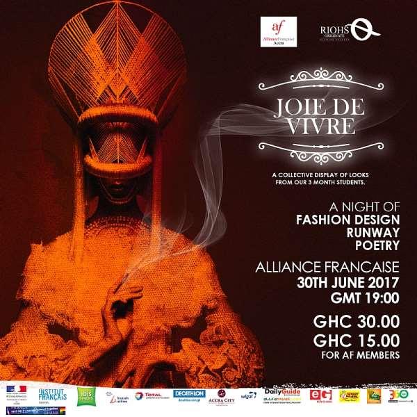 Fashion Schools In Ghana: Riohs Originate Hosts Fashion Festival 'JOIE DE VIVRE'  At Alliance Française