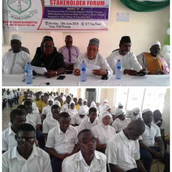 NJA College Of Education Increases Intake Of Visually Impaired Students