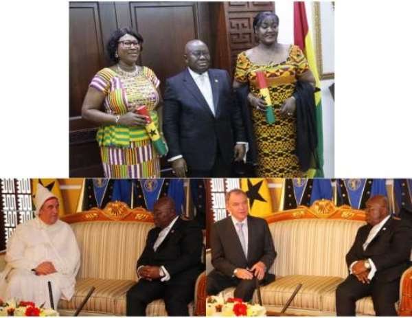 Akufo-Addo Swears In 2 Envoys And Receives 4 New Ambassadors
