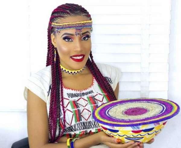 Nigerian Born US Beauty Queen Krystal Okeke Dazzles In Fulani Attire Photo shoot After Abuja Visit