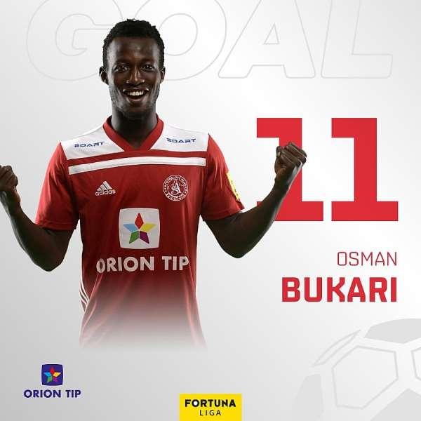 Ghana Youngster Osman Bukari Scores In AS Trenčín's Win 3-1 At FK Senica