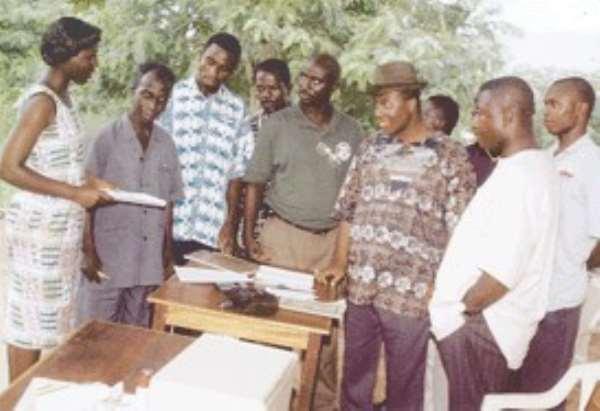 Ashanti Voters take photo on Saturday