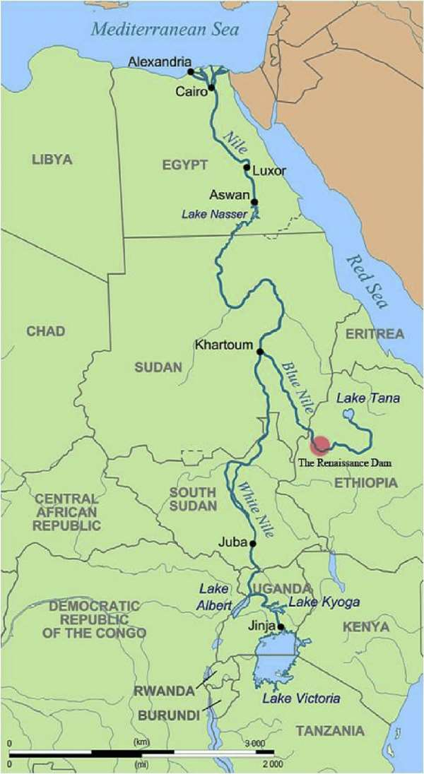 Countries of the Nile River Basin-World Bank (Courtesy of researchgate.net)