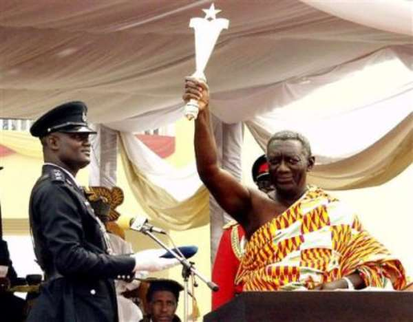 Kufuor sworn-in for second term