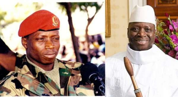 Yahyah Jammeh in 1994 and before stepping down