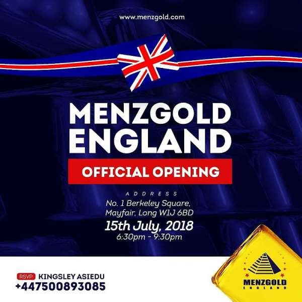 Menzgold Formally Opens In London Today As Its Global Expansion Continues